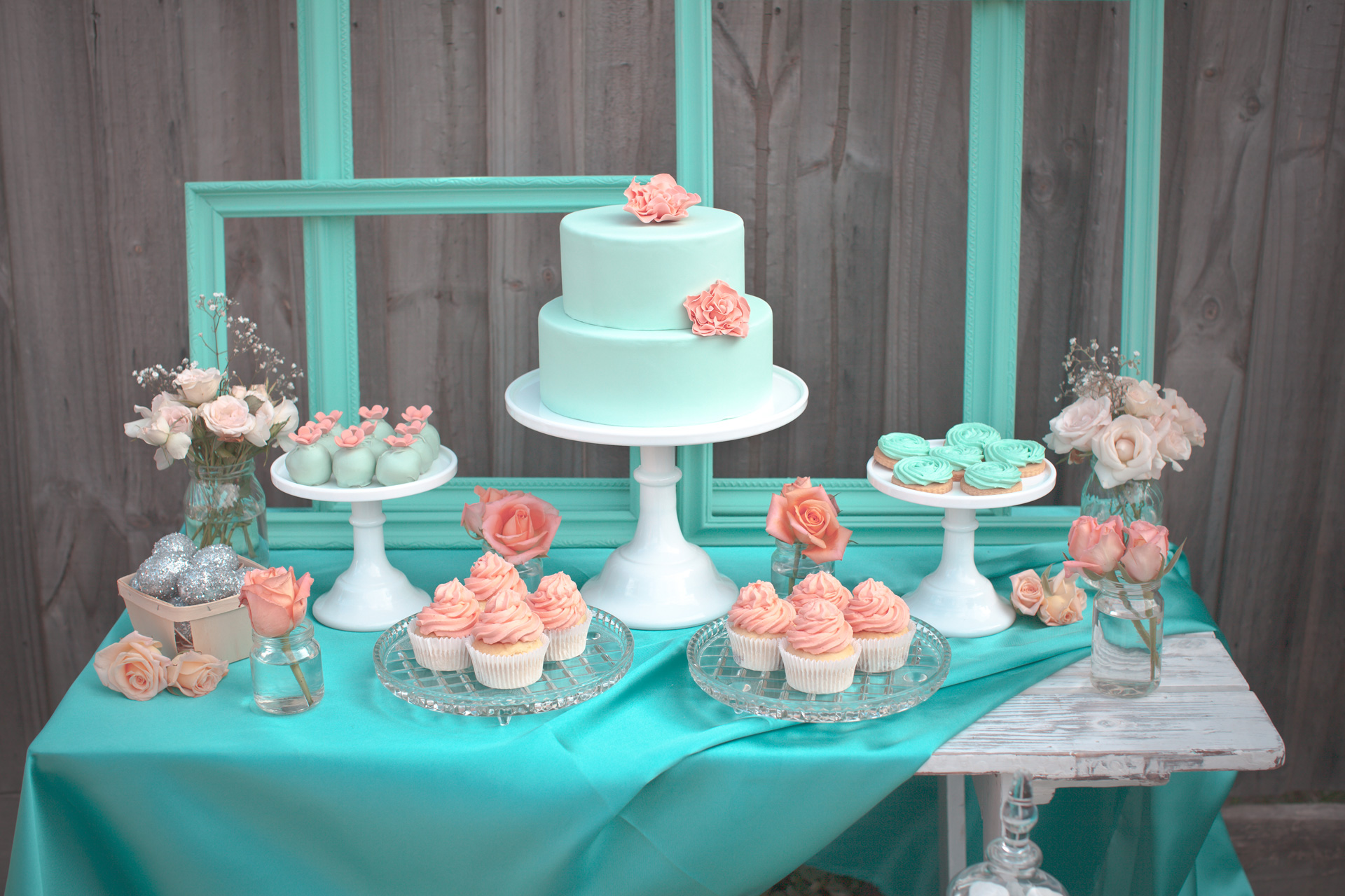 Coral and Mint Easter Table