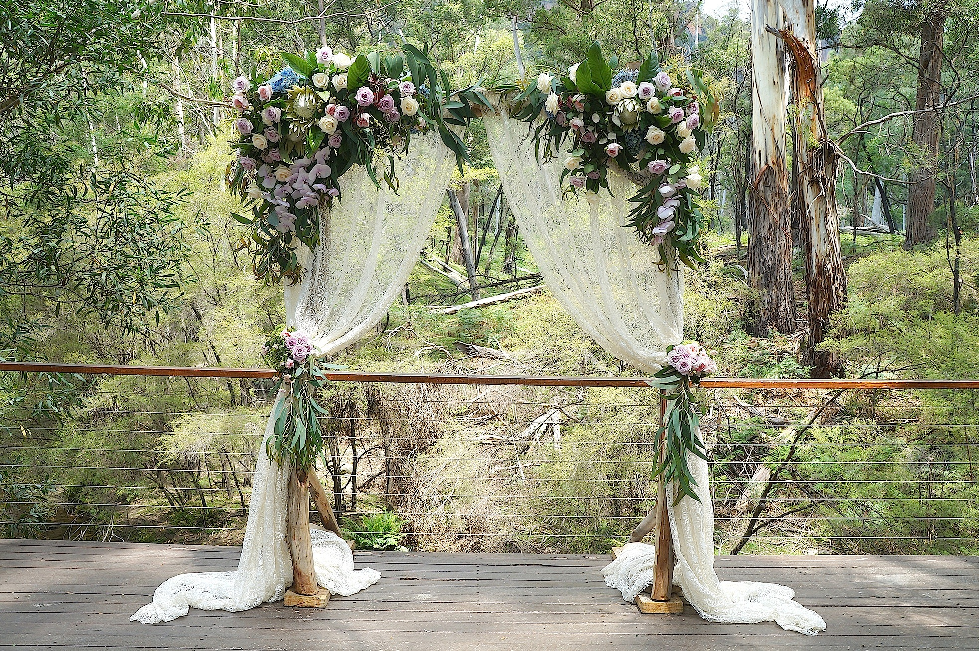 Ceremony Arch Penny Lane Studio Wolgan Valley Resort Vintage blue mountains vintage wedding sml