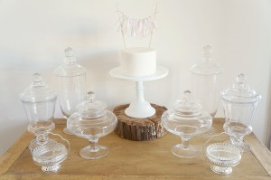 Candy jars, 5 sizes/shapes, total 10 available,
