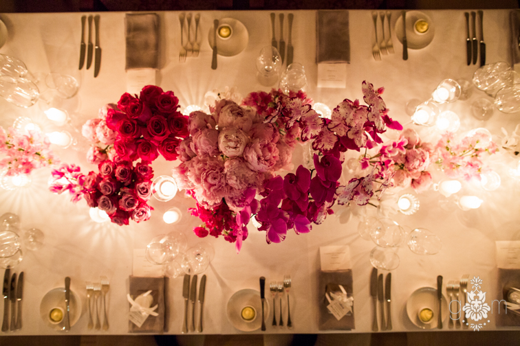 ombre wedding table setting penny lane studio