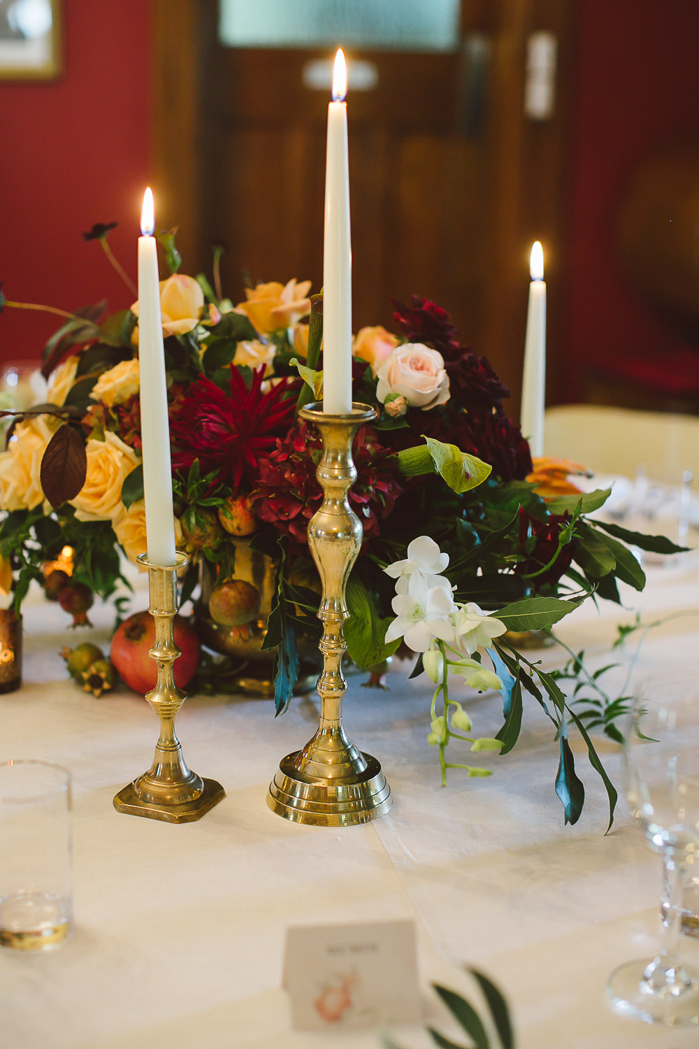 Brass candlesticks wedding and event hire penny lane studio