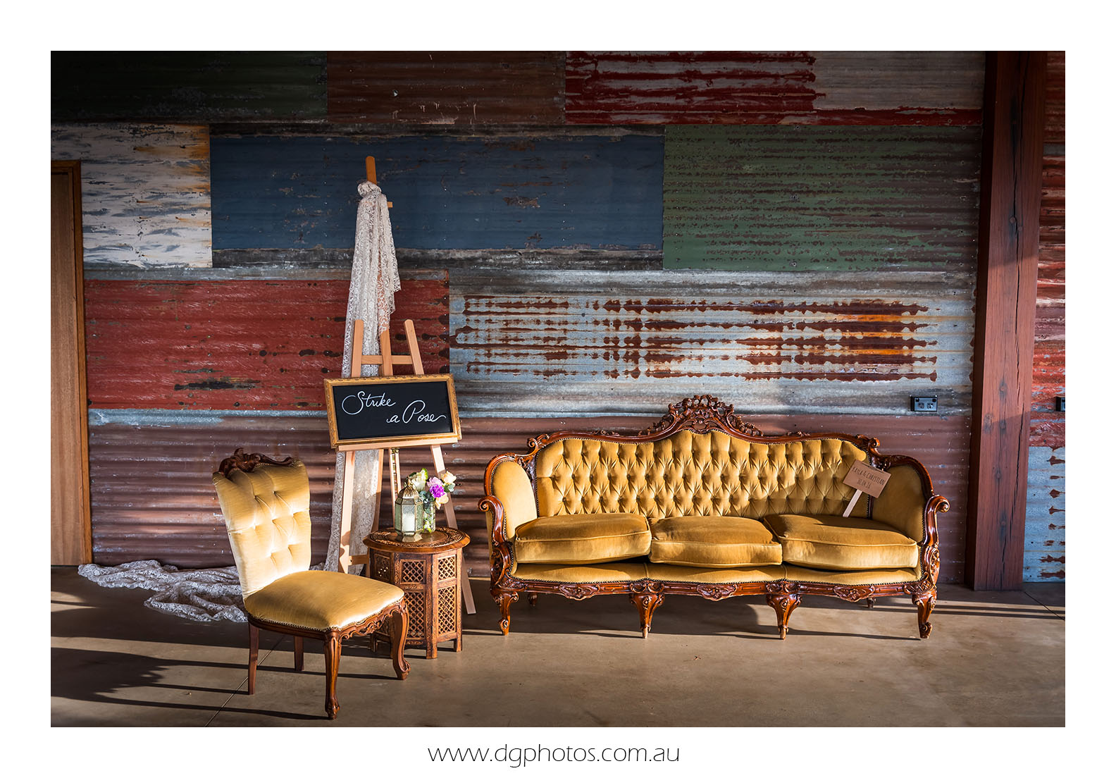 louis lounge vintage lounge hire gold blue mountains stylist prop hire wedding hire event hire corporate